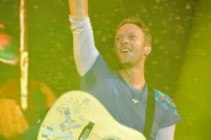 Chris Martin - Coldplay at Powderham Castle.