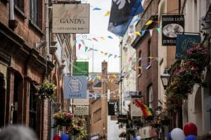 Gandy Street. Visit Exeter, Devon and Cornwall. Hotels in Exeter City Centre.