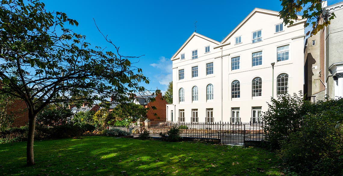 Front view Exeter Self Catering Exeter Serviced Apartments Exeter